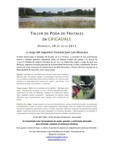 Taller de Poda de Frutales Grigadale 2013