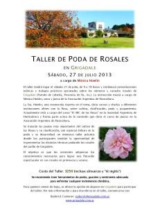 Taller de Poda de Rosales Grigadale 2013
